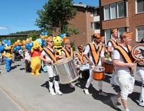 Ετήσια κάθε παρέλαση ημέρας childs στην πόλη Solleftea στη Σουηδία Στοκ εικόνες με δικαίωμα ελεύθερης χρήσης