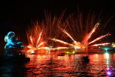 Ετήσια μεγάλη παρέλαση δράκων Στοκ Εικόνες