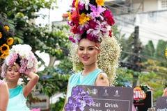 ετήσια παρέλαση φεστιβάλ λουλουδιών σε Chiang Mai, Ταϊλάνδη Στοκ εικόνες με δικαίωμα ελεύθερης χρήσης