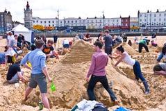 Ετήσια πρόκληση RIBA Sandcastle σε Margate, UK Στοκ φωτογραφία με δικαίωμα ελεύθερης χρήσης