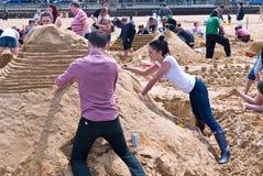 Ετήσια πρόκληση RIBA Sandcastle σε Margate, UK Στοκ φωτογραφίες με δικαίωμα ελεύθερης χρήσης