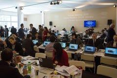 Ετήσια συνάντηση 2015 παγκόσμιου οικονομική φόρουμ Davos Στοκ Φωτογραφίες
