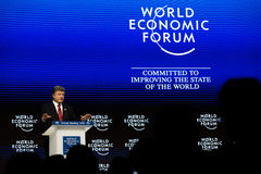 Ετήσια συνάντηση 2015 παγκόσμιου οικονομική φόρουμ Davos Στοκ Φωτογραφία
