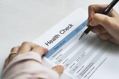 Ετήσιος έλεγχος υγείας επάνω στον τρόπο ζωής Στοκ εικόνες με δικαίωμα ελεύθερης χρήσης