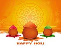 Ετήσιο ινδό φεστιβάλ της άνοιξη φεστιβάλ χρωμάτων Ευτυχής κάρτα Holi Στοκ φωτογραφία με δικαίωμα ελεύθερης χρήσης