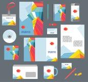 Εταιρικά επιχειρησιακά πρότυπα ύφους καθορισμένα χαρτικά Στοκ Φωτογραφία
