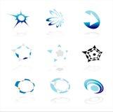 εταιρικά λογότυπα εννέα Στοκ Φωτογραφία