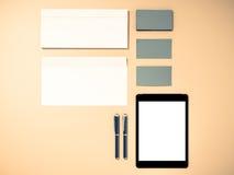 Εταιρικά χαρτικά σχεδίου προτύπων ταυτότητας Στοκ Φωτογραφία
