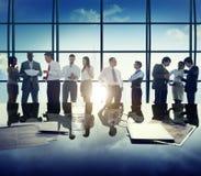 Εταιρική έννοια συνεδρίασης της συζήτησης επιχειρηματιών ποικιλομορφίας Στοκ εικόνα με δικαίωμα ελεύθερης χρήσης