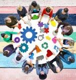 Εταιρική έννοια σύνδεσης παγκόσμιων επικοινωνιών Στοκ Εικόνα