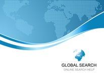 Εταιρική ανασκόπηση με το λογότυπο της σφαιρικής αναζήτησης Στοκ Εικόνες