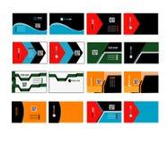 Εταιρική επαγγελματική κάρτα 03 διανυσματική απεικόνιση