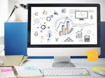 Εταιρική επιχειρησιακή έννοια ανάλυσης στόχων επιτυχίας Στοκ εικόνες με δικαίωμα ελεύθερης χρήσης