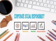 Εταιρική κοινωνική ευθύνη, επιχειρησιακή έννοια λευκό Ιστού γραφείων γραφείων επιχειρηματιών περιοδείας Στοκ Εικόνες