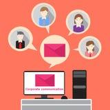 Εταιρική ομάδα ηλεκτρονικού ταχυδρομείου επικοινωνίας επιχειρηματιών Στοκ Φωτογραφίες