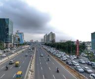 Εταιρική πλήμνη, πόλη DLF Cyber στοκ εικόνες με δικαίωμα ελεύθερης χρήσης