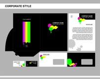 Εταιρική ταυτότητα, επιχείρηση, μαρκάρισμα, διαφήμιση διανυσματική απεικόνιση