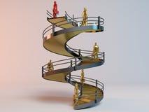 Εταιρική τρισδιάστατη σκάλα Στοκ Εικόνα
