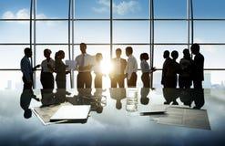 Εταιρική υπαλληλική έννοια γραφείων εργαζομένων επιχειρηματιών Στοκ εικόνες με δικαίωμα ελεύθερης χρήσης