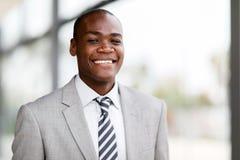 εταιρικός εργαζόμενος αφροαμερικάνων στοκ εικόνα