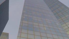 Εταιρικός στο κέντρο της πόλης κτιρίων γραφείων φιλμ μικρού μήκους
