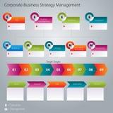 Εταιρικό διοικητικό εικονίδιο επιχειρησιακής στρατηγικής Στοκ Εικόνες