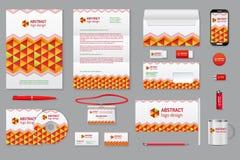 Εταιρικό μαρκάροντας πρότυπο ταυτότητας Στοκ εικόνα με δικαίωμα ελεύθερης χρήσης