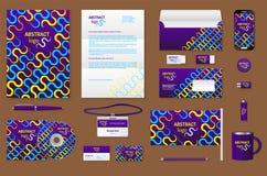 Εταιρικό μαρκάροντας πρότυπο ταυτότητας Στοκ Φωτογραφία