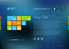 Εταιρικό πρότυπο ιστοχώρου. διανυσματική απεικόνιση