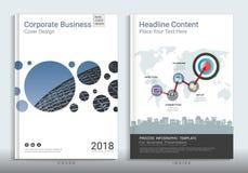 Εταιρικό πρότυπο σχεδίου βιβλίων επιχειρησιακής κάλυψης με infographic ελεύθερη απεικόνιση δικαιώματος