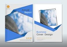Εταιρικό πρότυπο σχεδίου βιβλίων επιχειρησιακής κάλυψης διανυσματική απεικόνιση