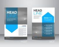 Εταιρικό πρότυπο σχεδιαγράμματος σχεδίου ιπτάμενων φυλλάδιων A4 στο μέγεθος, με Στοκ Εικόνες