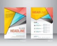 Εταιρικό πρότυπο σχεδιαγράμματος σχεδίου ιπτάμενων φυλλάδιων A4 στο μέγεθος, με απεικόνιση αποθεμάτων