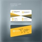 Εταιρικό πρότυπο τυπωμένων υλών επαγγελματικών καρτών Προσωπική κάρτα επίσκεψης W Στοκ Εικόνα