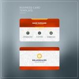 Εταιρικό πρότυπο τυπωμένων υλών επαγγελματικών καρτών Προσωπική κάρτα επίσκεψης W Στοκ φωτογραφία με δικαίωμα ελεύθερης χρήσης