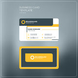 Εταιρικό πρότυπο τυπωμένων υλών επαγγελματικών καρτών Προσωπική κάρτα επίσκεψης W Στοκ εικόνα με δικαίωμα ελεύθερης χρήσης