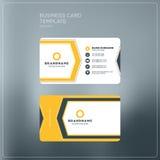 Εταιρικό πρότυπο τυπωμένων υλών επαγγελματικών καρτών Προσωπική κάρτα επίσκεψης Στοκ Εικόνες