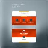Εταιρικό πρότυπο τυπωμένων υλών επαγγελματικών καρτών Προσωπική κάρτα επίσκεψης Στοκ φωτογραφίες με δικαίωμα ελεύθερης χρήσης