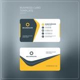 Εταιρικό πρότυπο τυπωμένων υλών επαγγελματικών καρτών Προσωπική κάρτα επίσκεψης Στοκ εικόνες με δικαίωμα ελεύθερης χρήσης