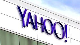 Εταιρικό σημάδι έδρας του Yahoo απόθεμα βίντεο