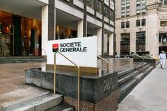 Εταιρικό σημάδι Generale Societe Στοκ Εικόνα