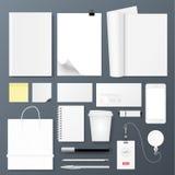 Εταιρικό σύνολο προτύπων ταυτότητας γραφείων Σχέδιο για το μαρκάρισμα απεικόνιση αποθεμάτων