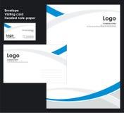 εταιρικό διάνυσμα προτύπων ταυτότητας Στοκ Εικόνα