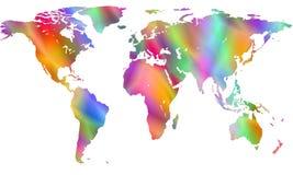 Ετερόκλητος παγκόσμιος χάρτης απεικόνιση αποθεμάτων