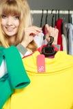 Ετικέτα έκπτωσης εκμετάλλευσης γυναικών Πώληση και λιανική πώληση Στοκ Εικόνες
