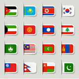 Ετικέτα - ασιατικές σημαίες Στοκ Εικόνες