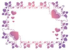 Ετικέτα βαλεντίνων με τα τριαντάφυλλα και τις καρδιές Στοκ εικόνες με δικαίωμα ελεύθερης χρήσης