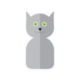 Ετικέτα γατών στο επίπεδο ύφος Στοκ εικόνα με δικαίωμα ελεύθερης χρήσης