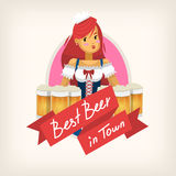 Ετικέτα για ένα μπαρ μπύρας Στοκ φωτογραφίες με δικαίωμα ελεύθερης χρήσης