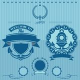 Ετικέτα για την υποβρύχια εργασία Στοκ εικόνες με δικαίωμα ελεύθερης χρήσης